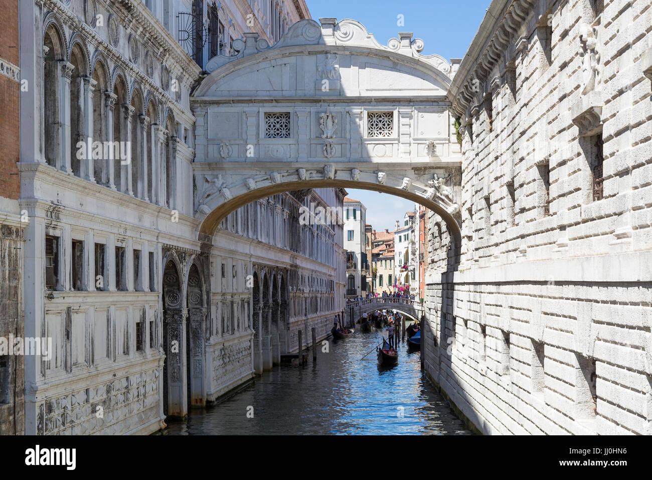 Sigh bridge, Venice, Veneto, Italy - Venice, Venetia, Italy, Seufzerbrücke, Venedig, Venetien, Italien - Venice - Stock Image