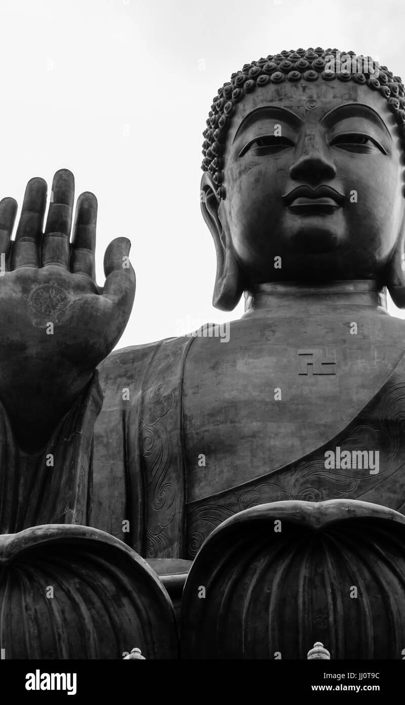 Tian Tan Buddha in Hong Kong Island - Stock Image