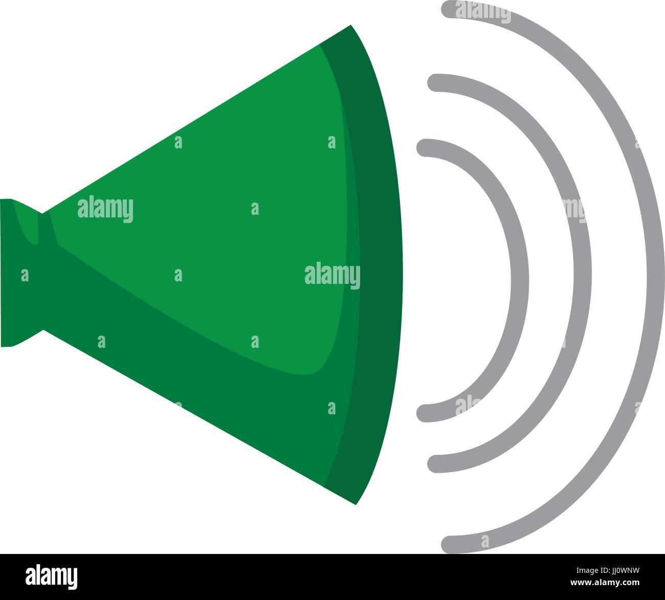volume of sound speaker louder amplifier Stock Vector