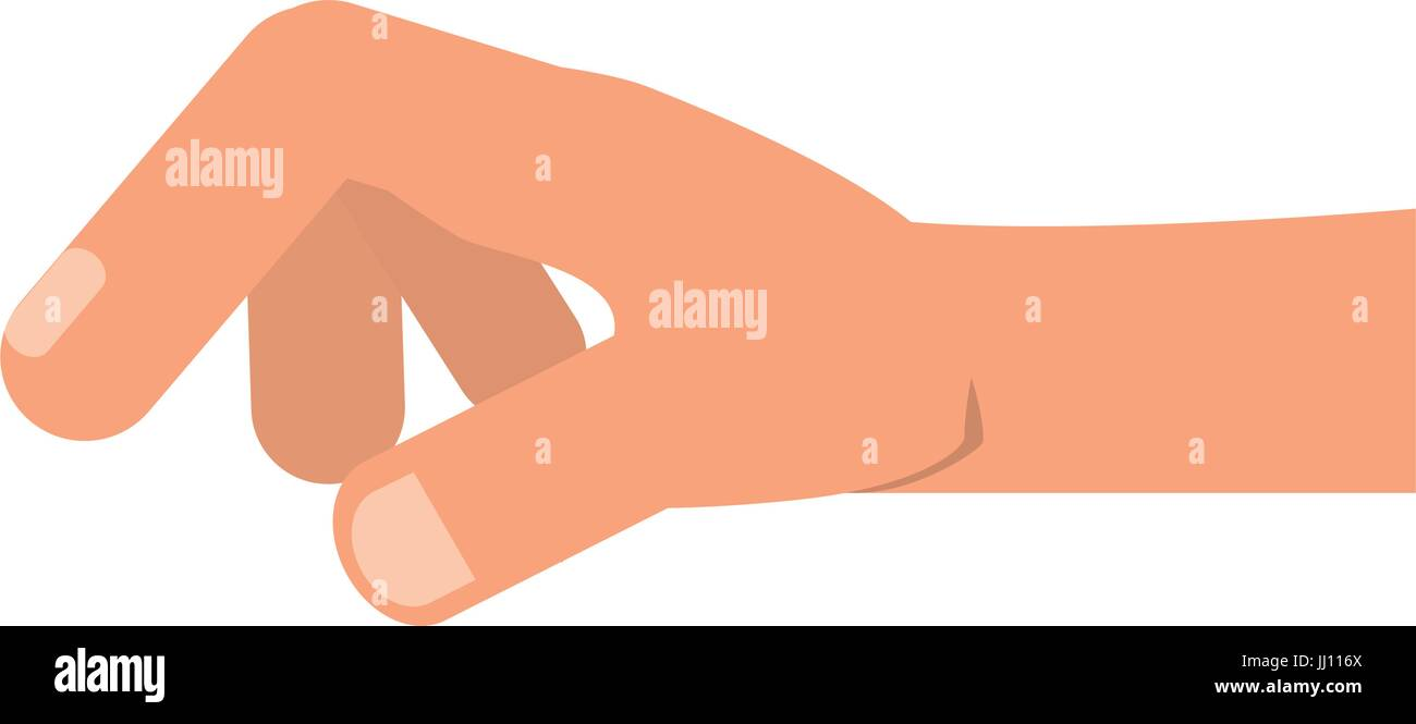 Human hand holding something - Stock Vector