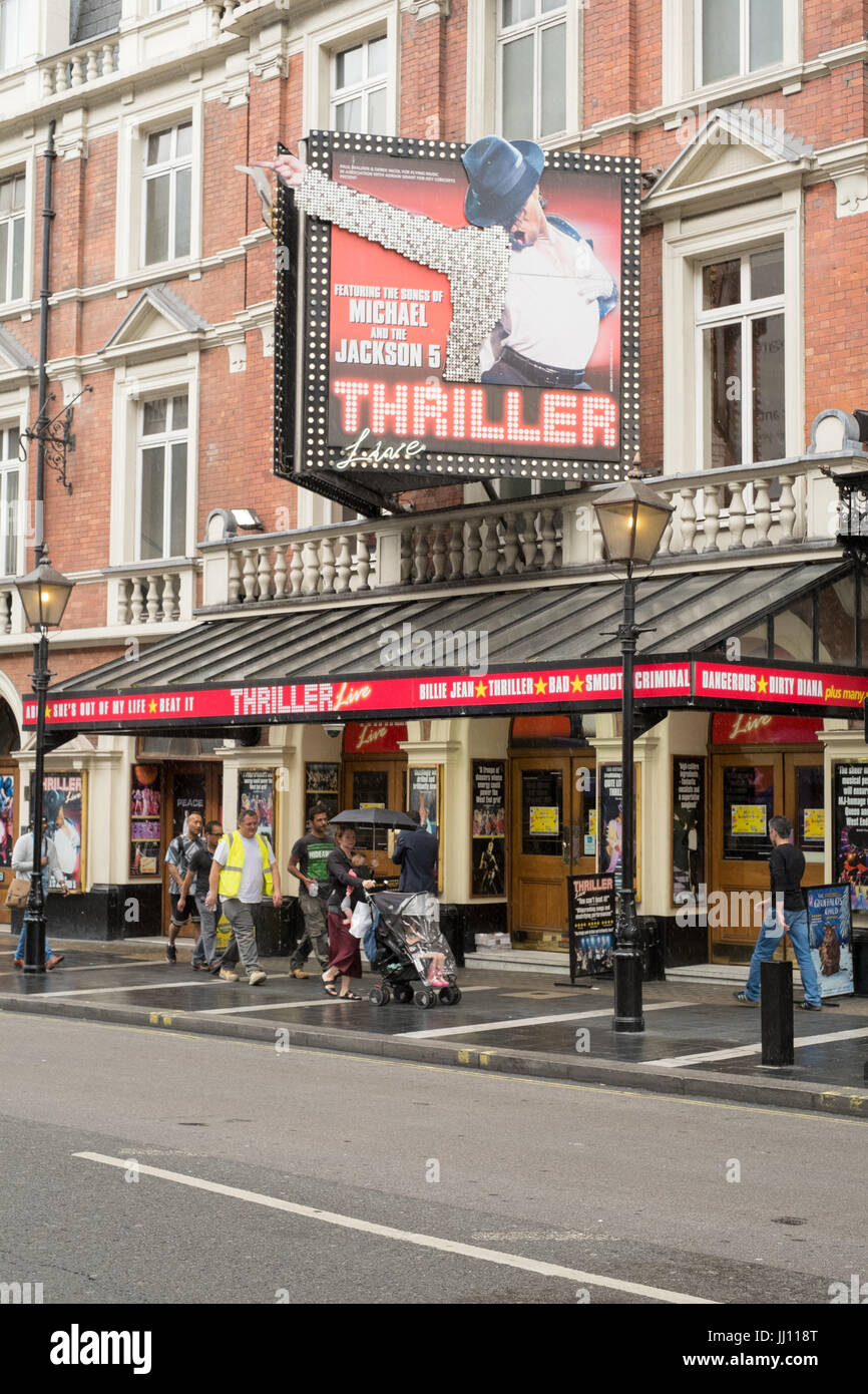 Thriller Live The Musical at the Lyric Theatre, Shaftesbury Avenue, London, UK - Stock Image