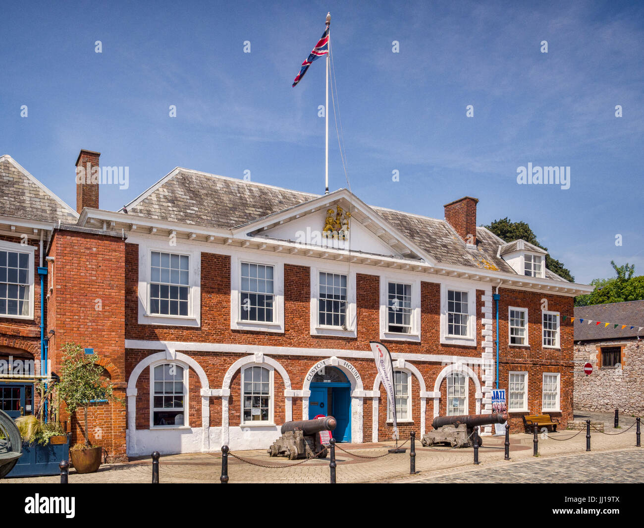 21 June 2017: Exeter, Devon, England, UK - The Custom House, one of the historic buildings at Exeter Quay on a fine - Stock Image