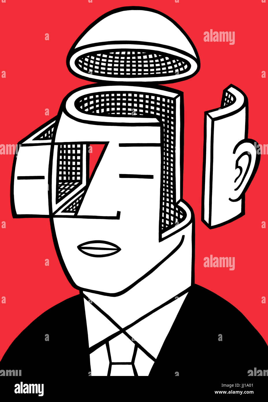 Heads are for thinking. A graphic illustrationStock Photo