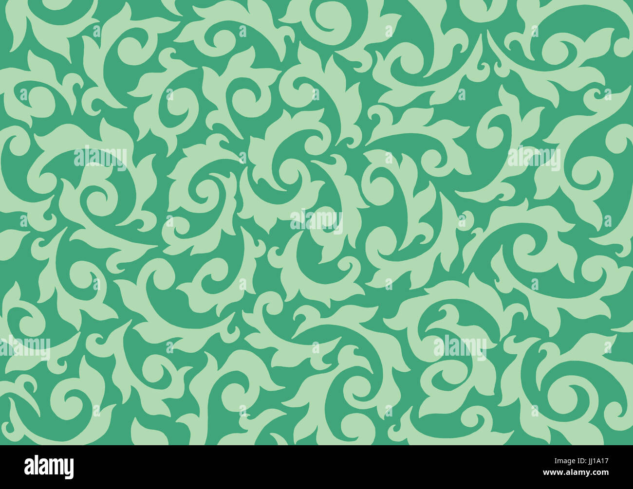 Foliage. A hand drawn non-repeating patternStock Photo