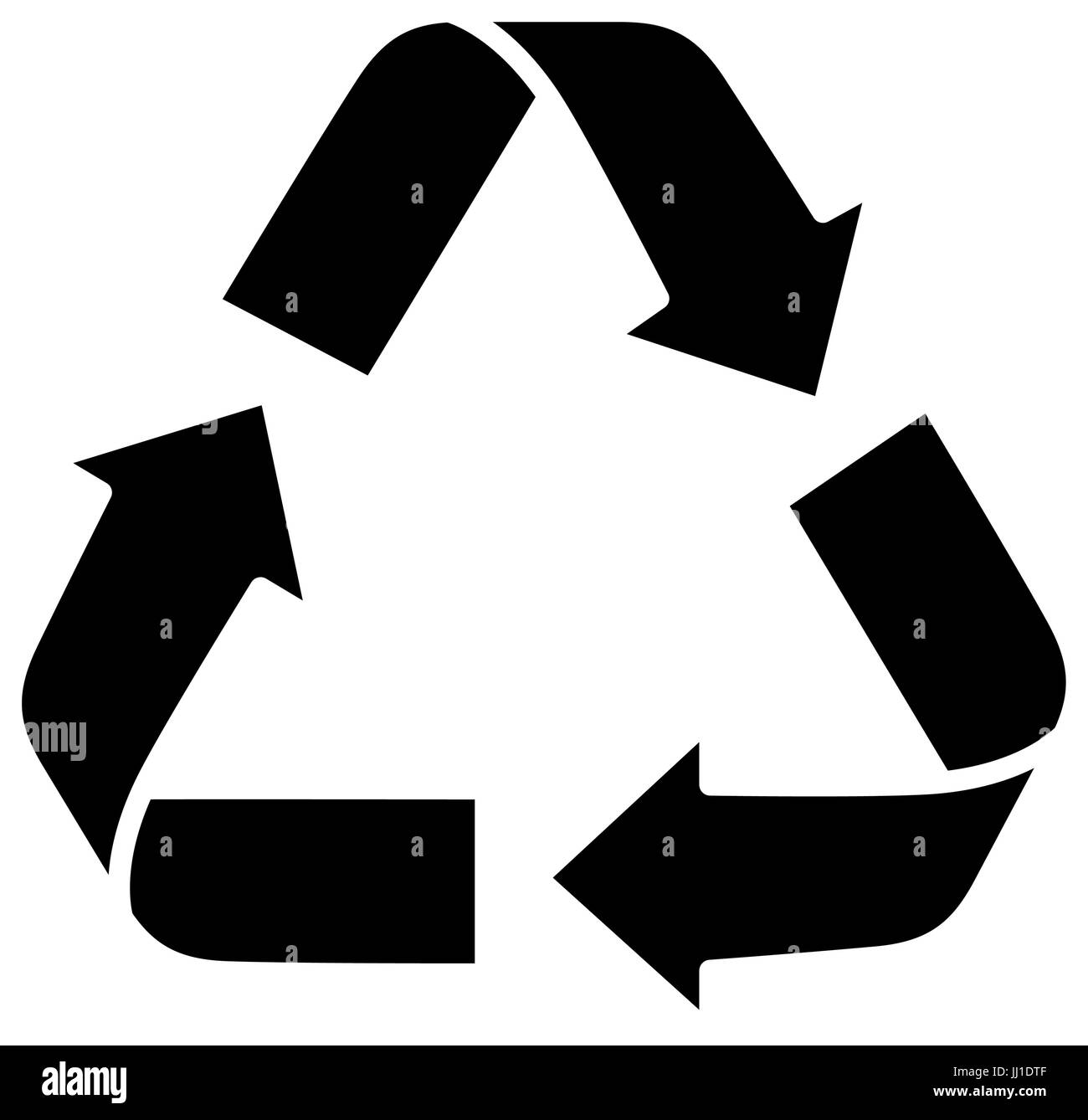 recycle sign icon - Stock Image