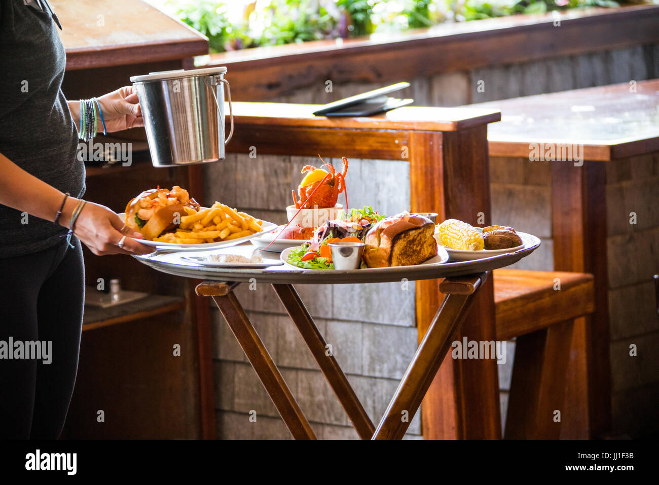The Nantucket Lobster Trap Restaurant, Nantucket, MA, USA - Stock Image