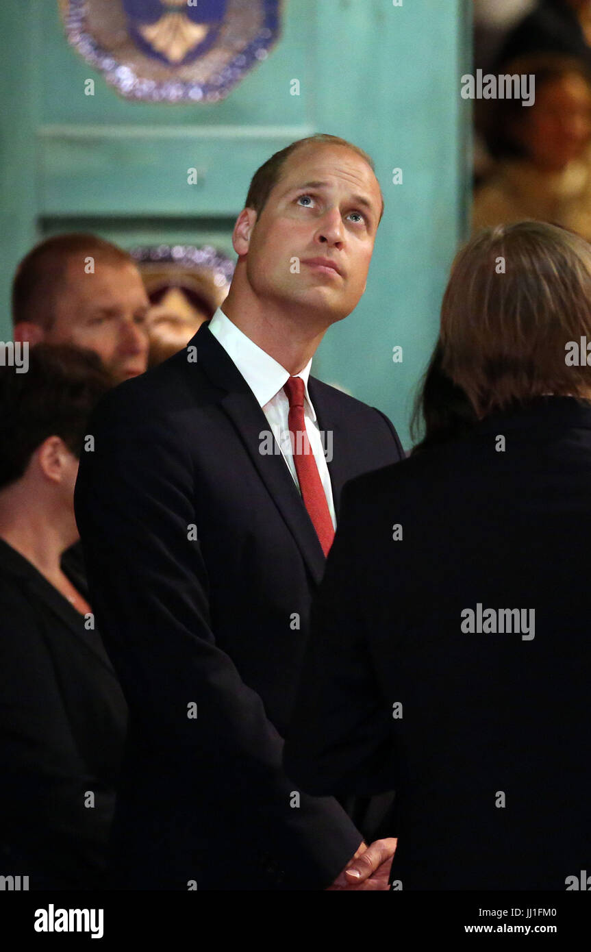 The Duke of Cambridge during a visit to the Warsaw Rising Museum which is dedicated to the uprising of 1944 which Stock Photo