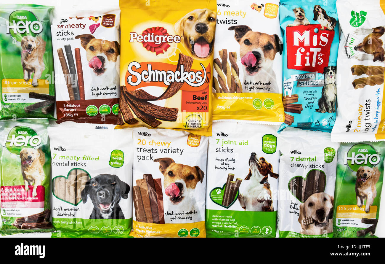 A selection of dog treats - Stock Image