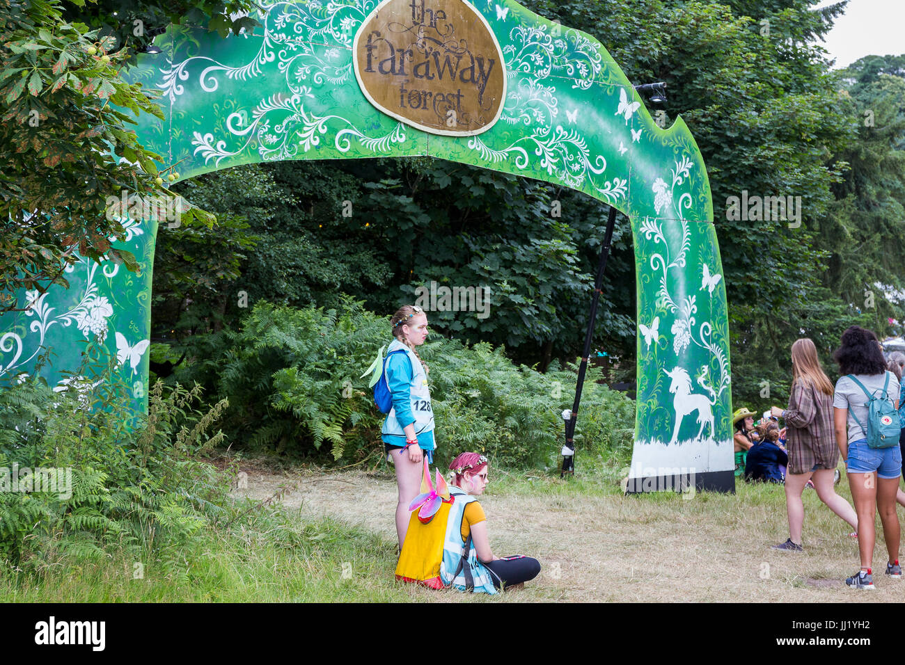 Sour fairies outside the Faraway Forest. Latitude Festival, Suffolk - Stock Image