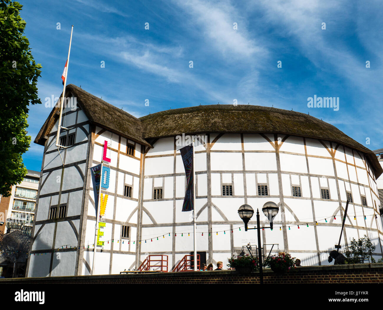 The Globe Theatre, Southbank (of the river thames), London, England - Stock Image