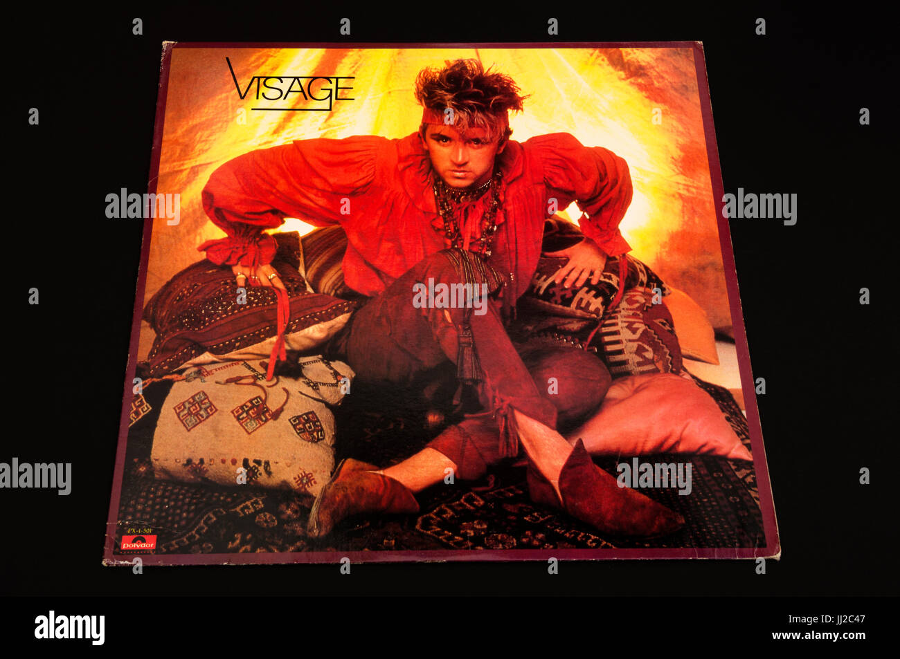 Visage Extended play vinyl record - Stock Image