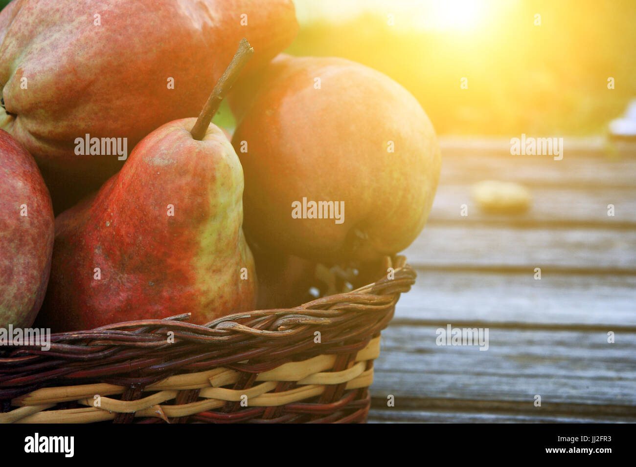 Group of pears - Stock Image