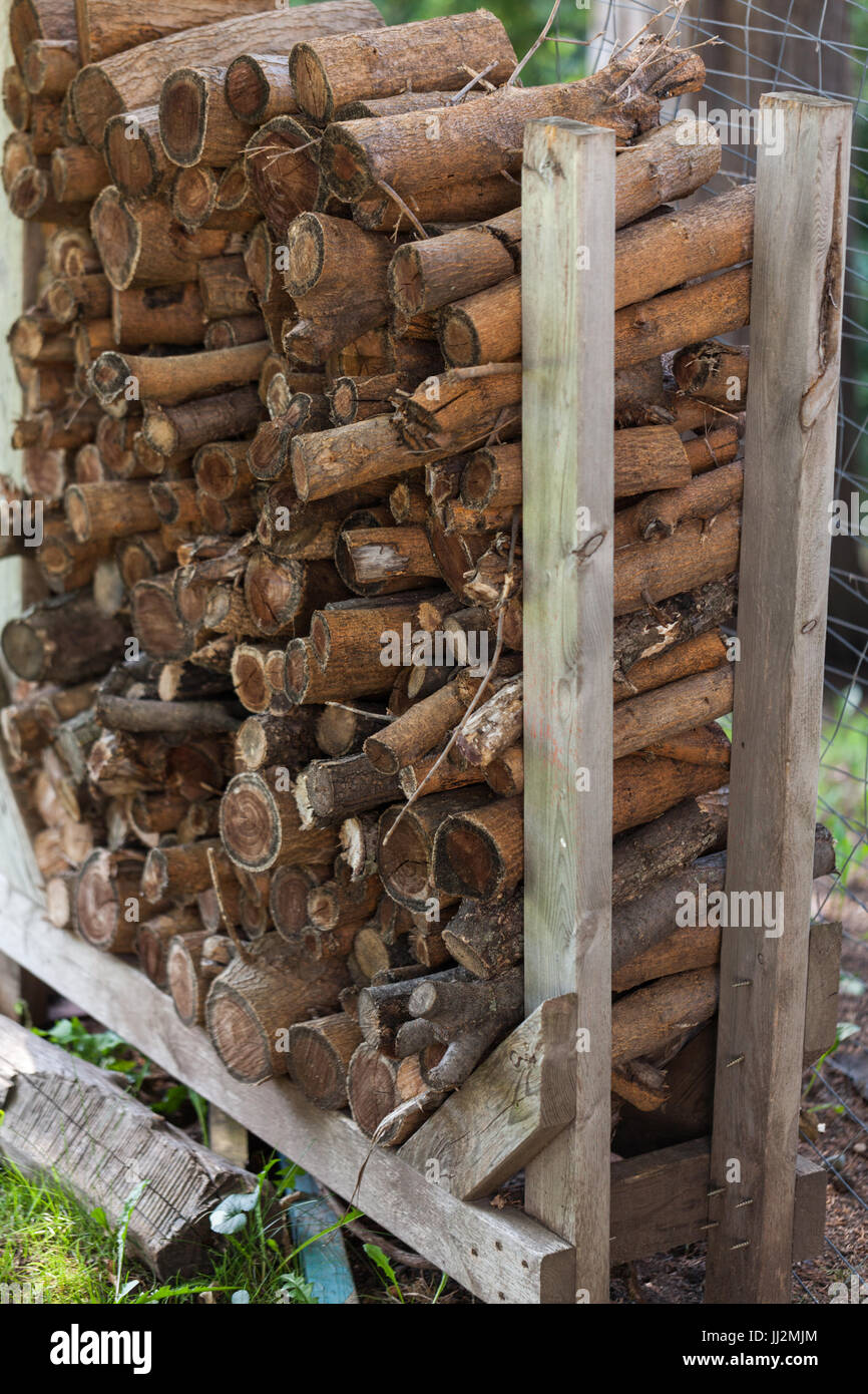 Log Rack - Stock Image
