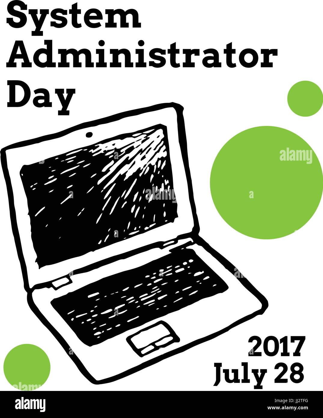 System Administrator Appreciation Day, July - Stock Image