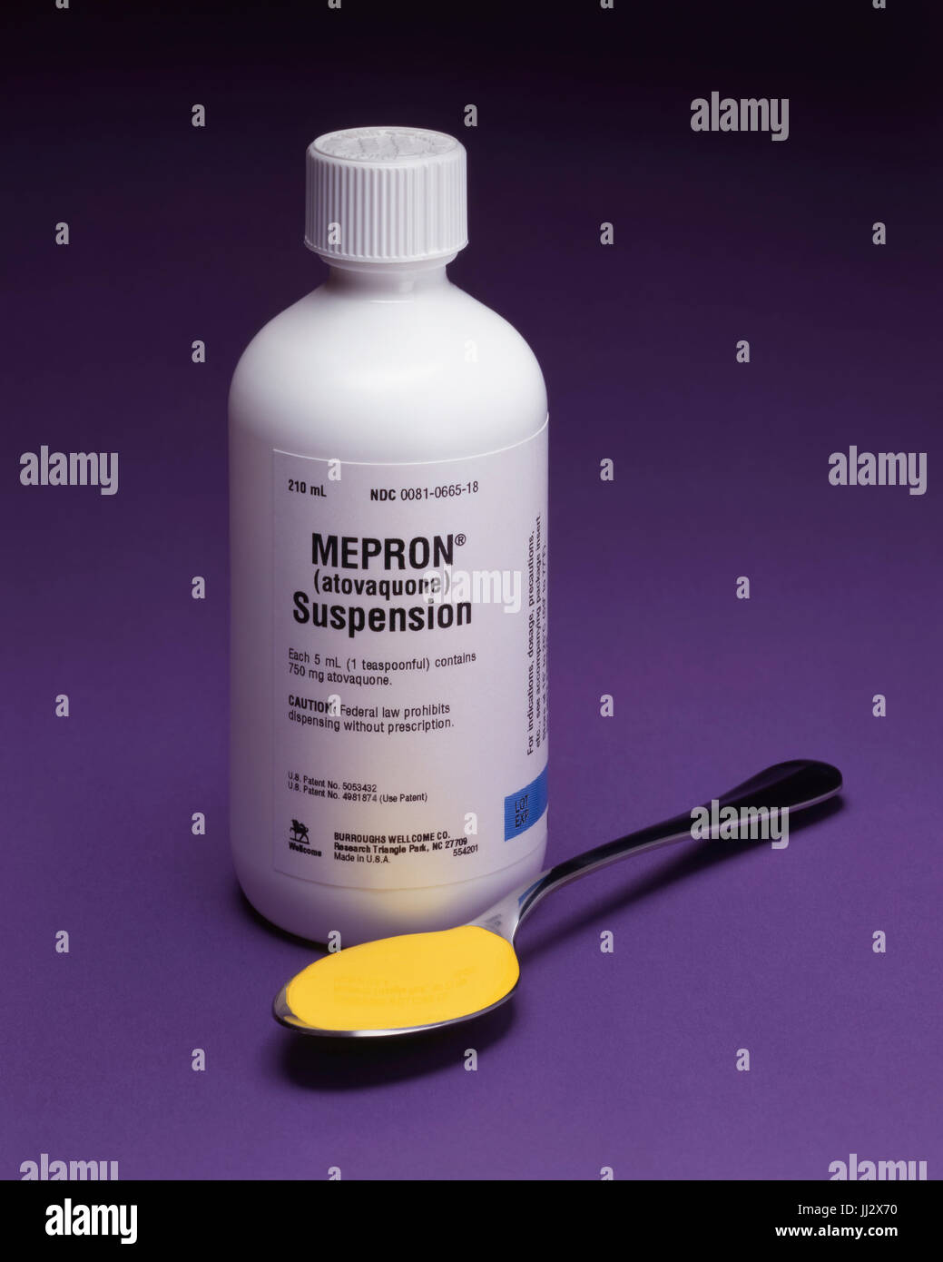 The prescription drug Mepron an antimicrobial - Stock Image
