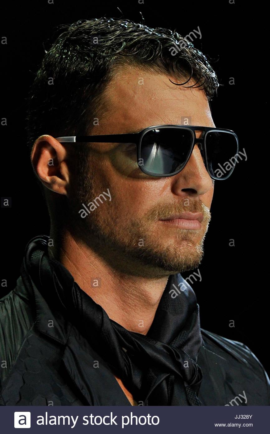 6c5a15b67a55 Glasses. Milano Man SS 14 Emporio Armani glasses Stock Photo ...