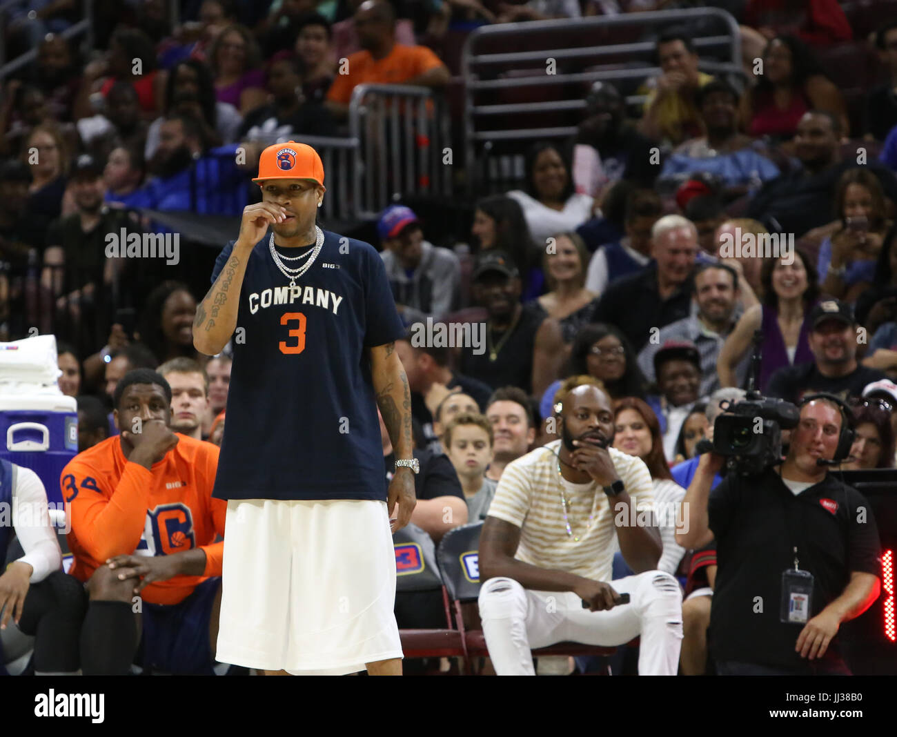 huge selection of 2939c e8929 Allen Iverson attends the Big 3 league in Phiily, PA on 7/16 ...