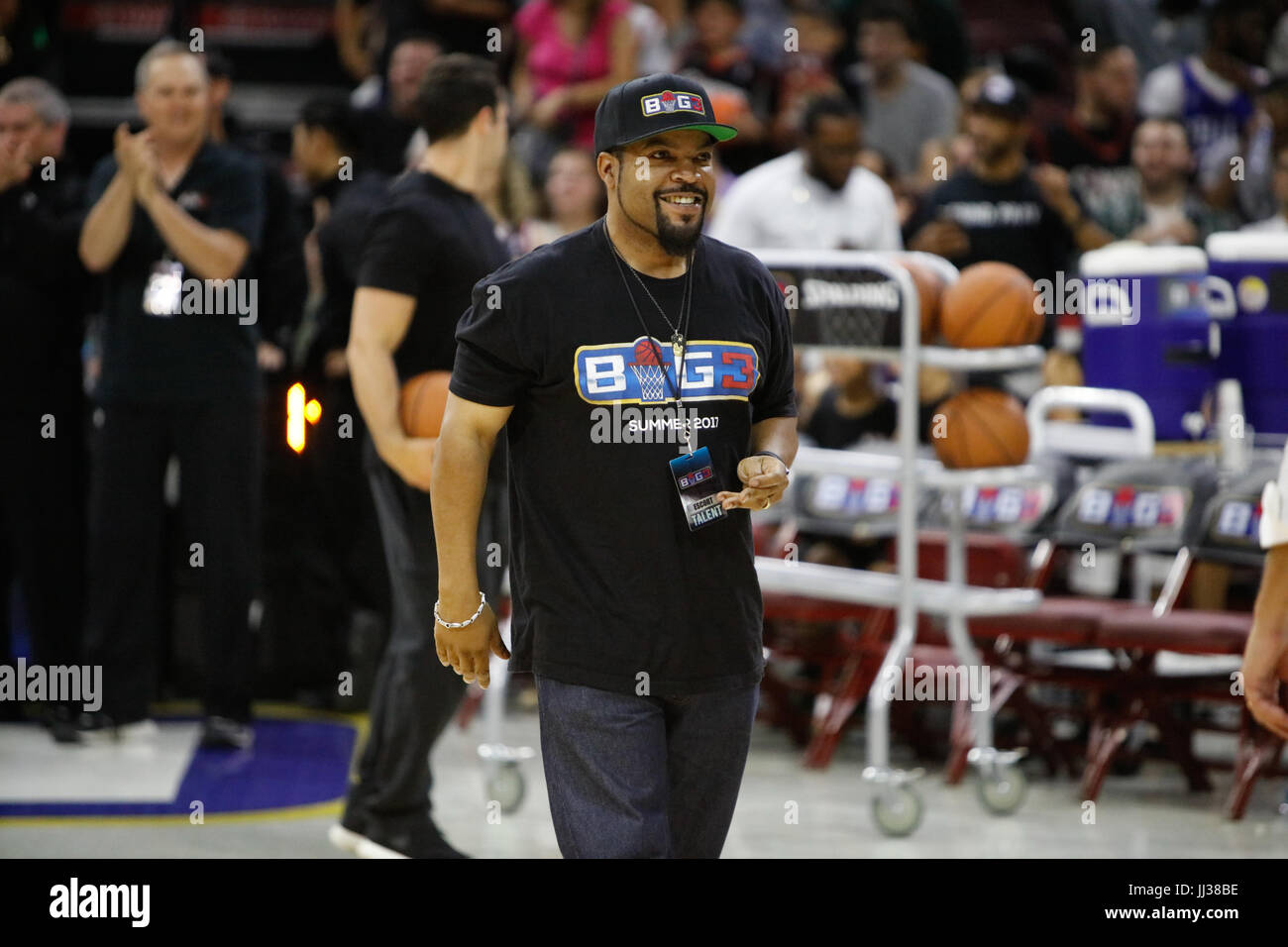 Ice Cube attend Big 3 league Phiily,PA 7/16/17 - Stock Image