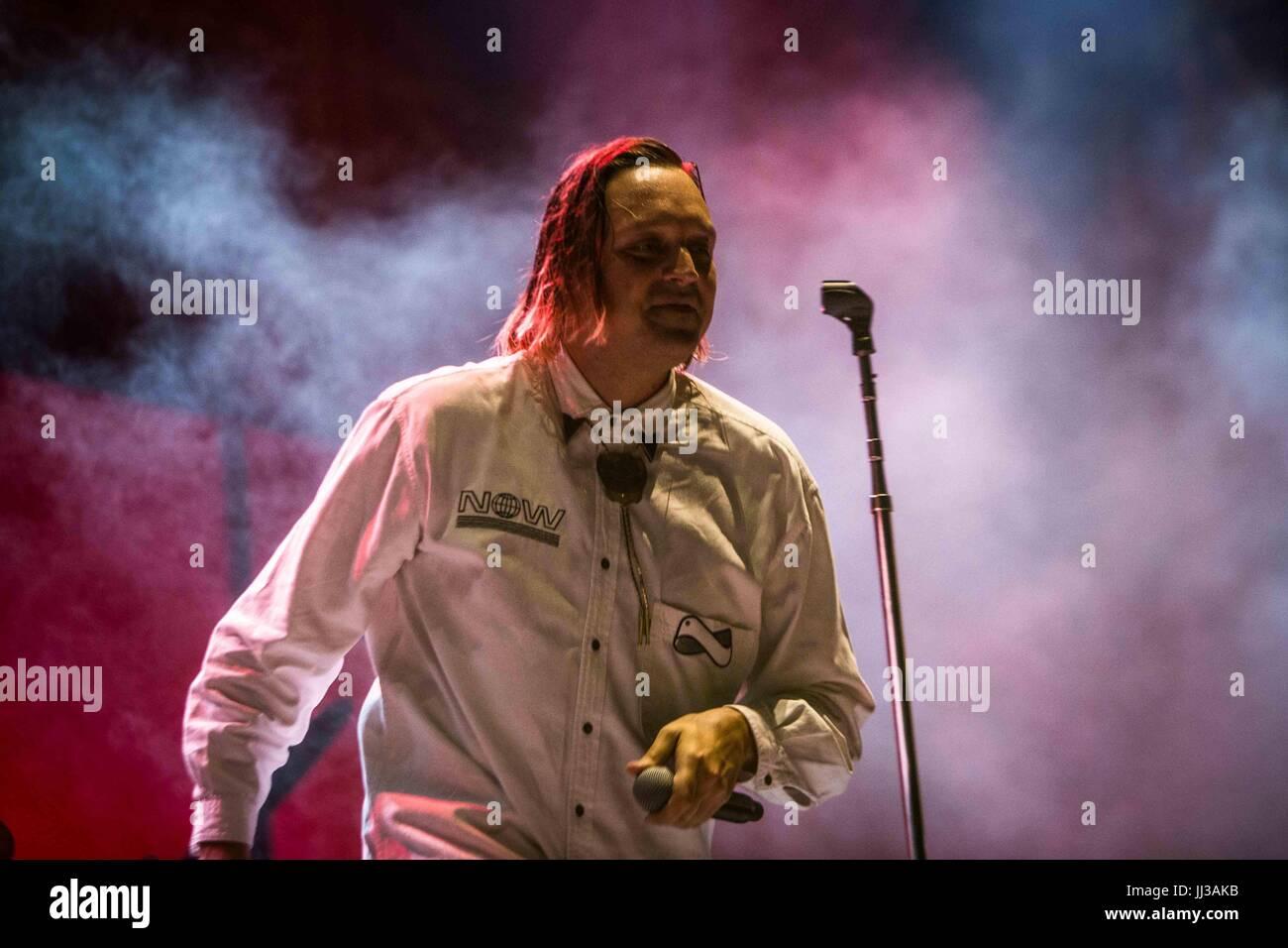 Milan, Italy. 17th July, 2017. Milan, Italy 17th july Arcade Fire live at Milan Summer Festival at Ippodromo San - Stock Image