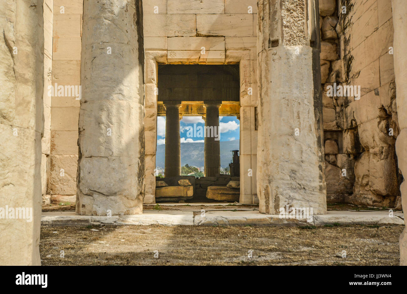 The Temple of Hephaestus in the ancient city of Athens Greece - Stock Image