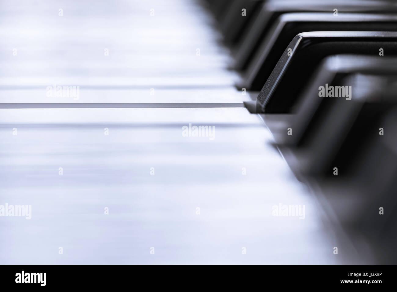 Modern piano keys - Stock Image
