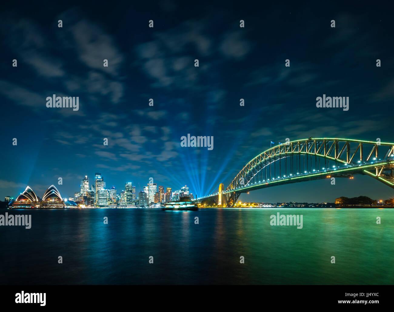 Sydney CBD and Harbour Bridge - Stock Image