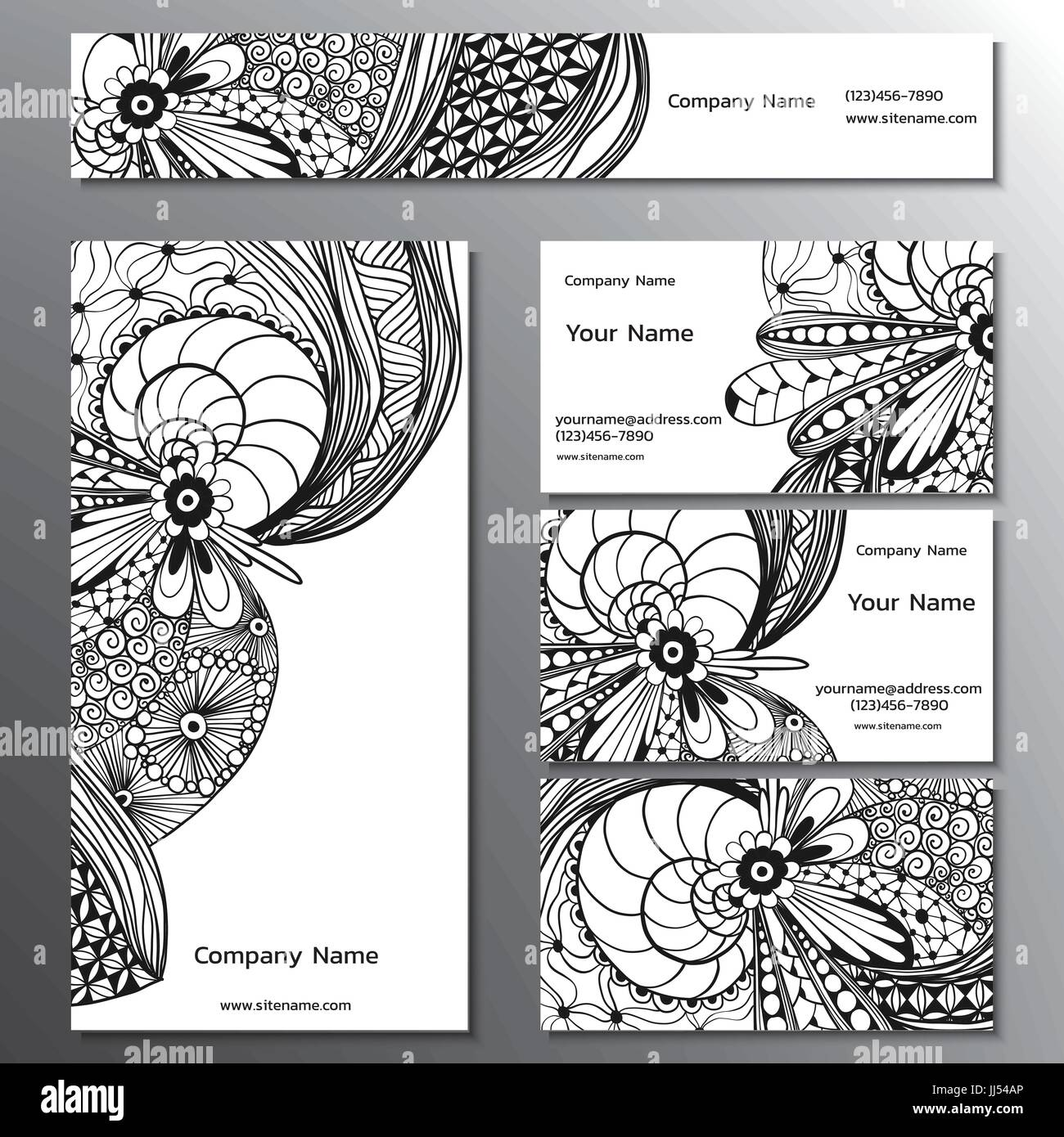 Vector illustration of a brand book, business cards, flyers and ...