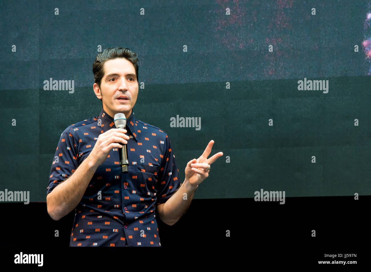 July 1st 2017. Stuttgart, Germany.David Dastmalchian talks about his roles in The Dark Knight, Prisoners, Ant-Man - Stock Image