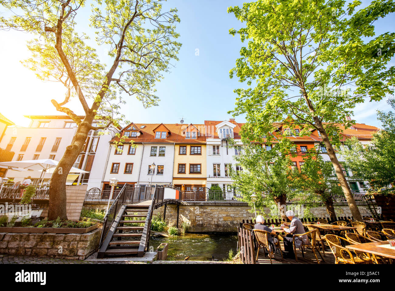 Erfurt city in Germany - Stock Image