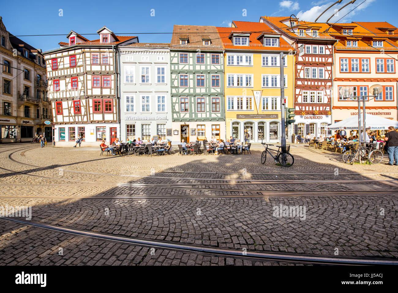 Erfurt city in Germany - Stock Image