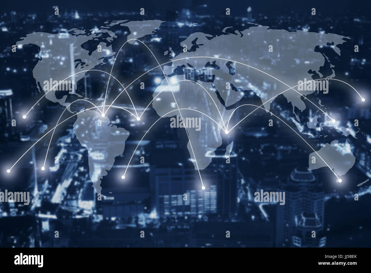 global network concept, communication Stock Photo