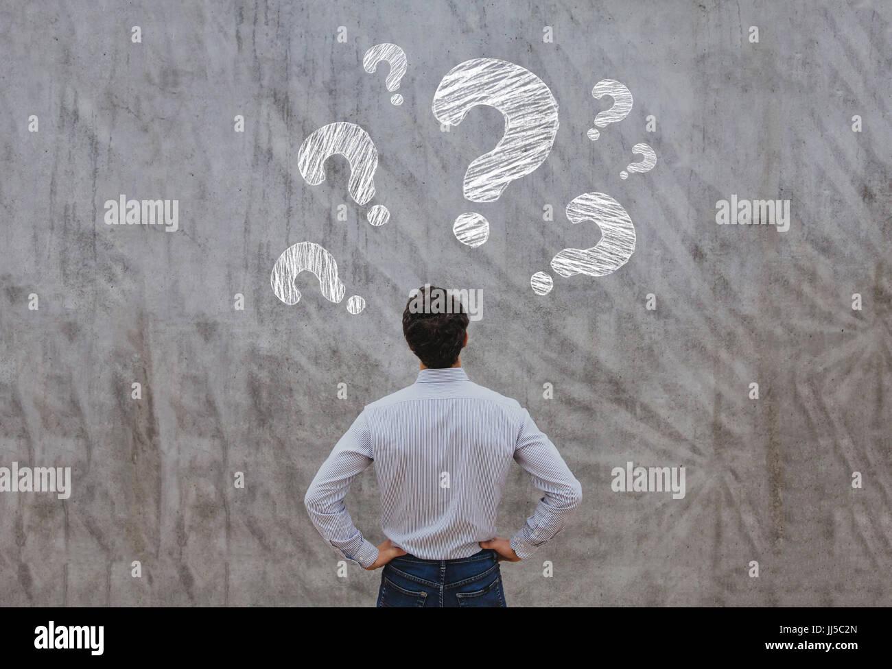 faq concept, ask questions - Stock Image