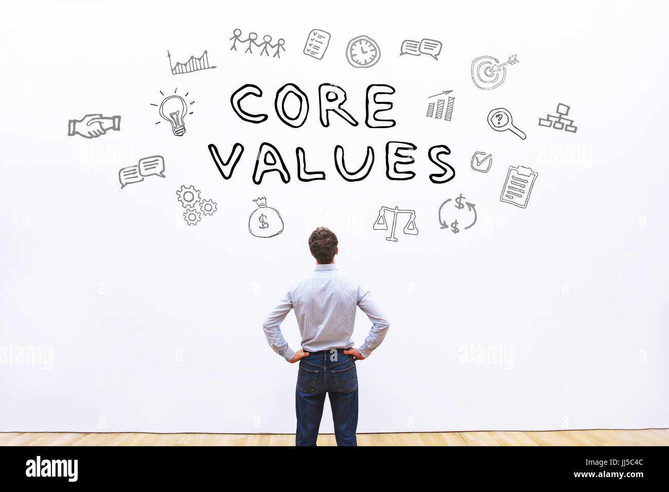 core values concept - Stock Image