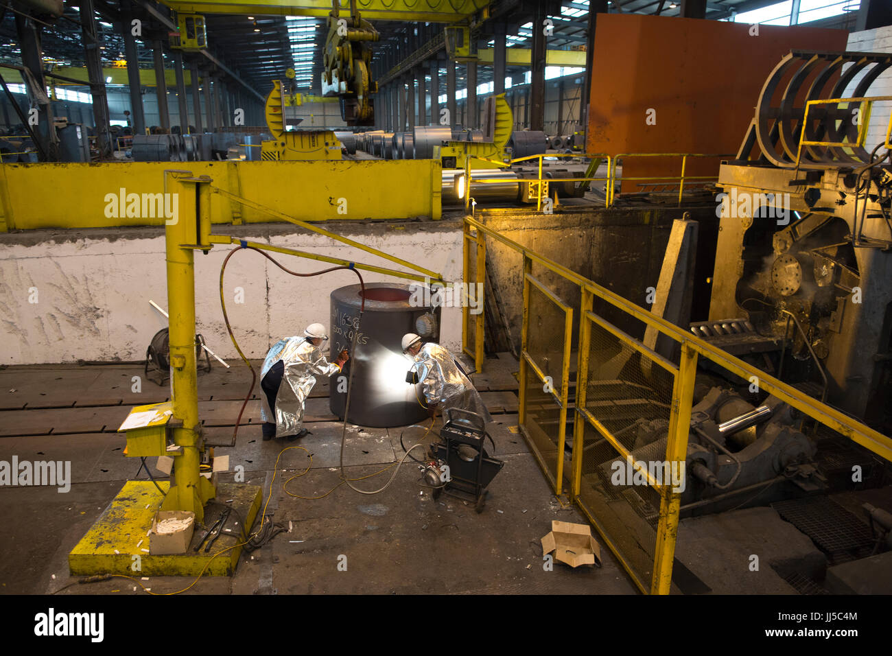Liberty Steel, steel recycling and steel roll manufacturers, Newport, Wales, United Kingdom Stock Photo