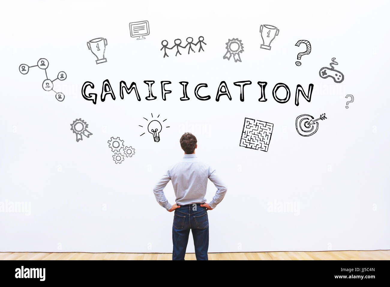 gamification concept - Stock Image