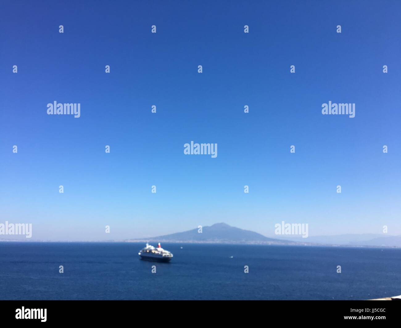 Mount Vesuvius, gulf of Naples - Stock Image