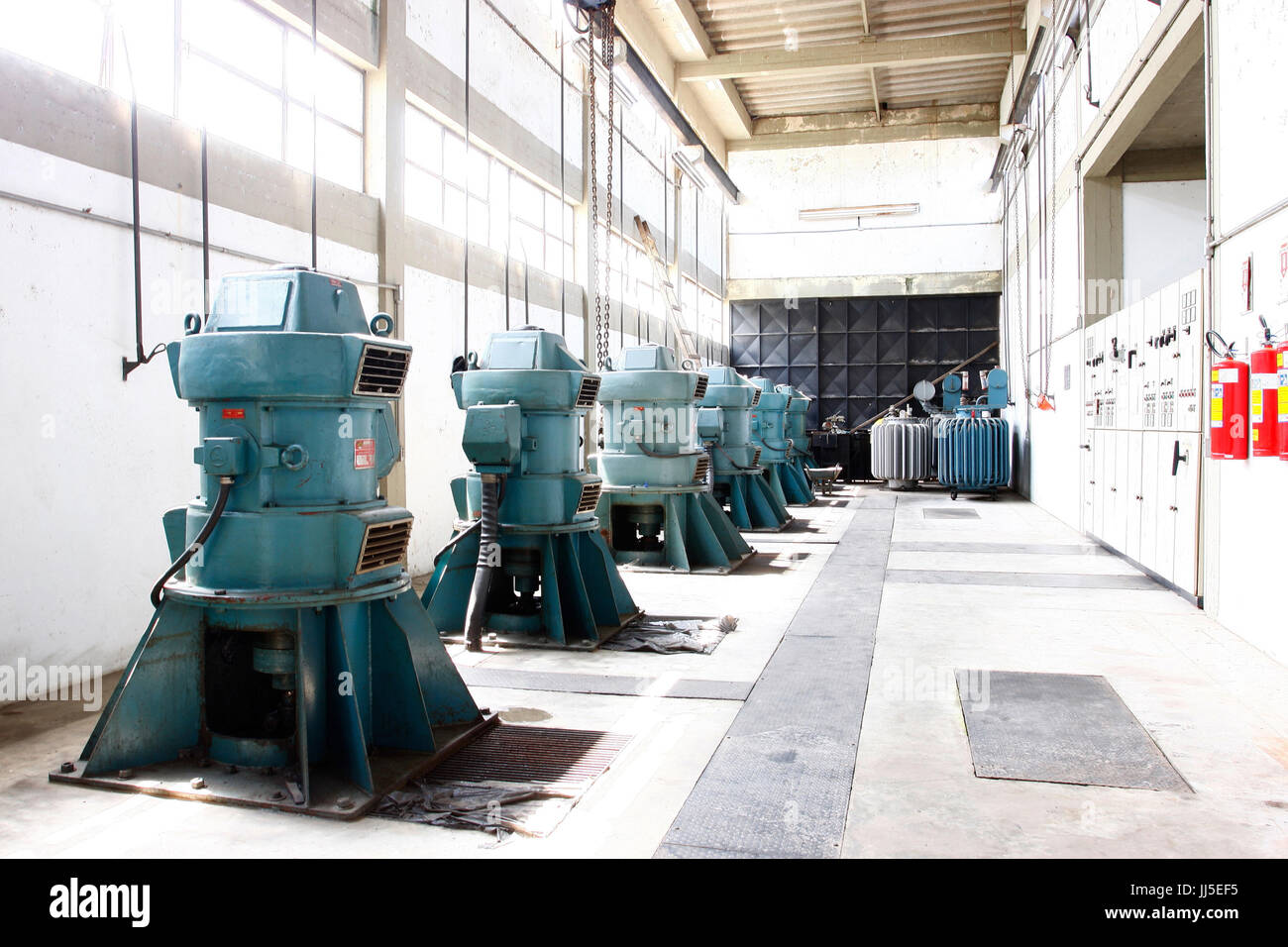 Water pump, industry, factory, Brazil - Stock Image