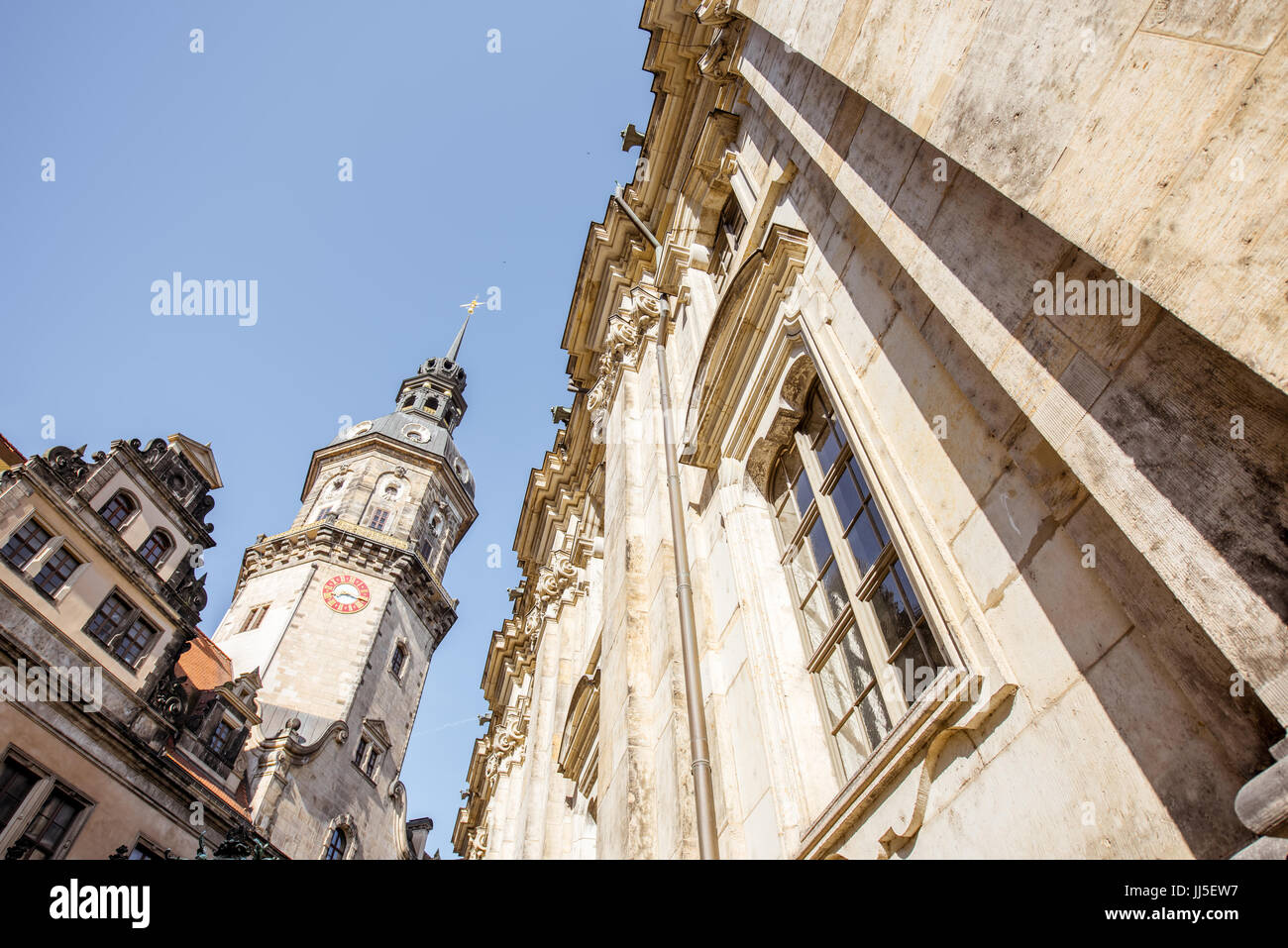 Dresden city in Germany Stock Photo