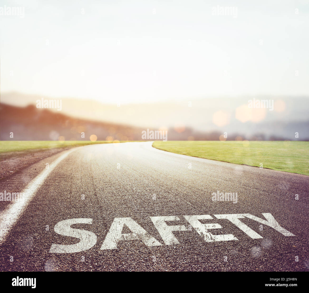 Safe road to travel - Stock Image