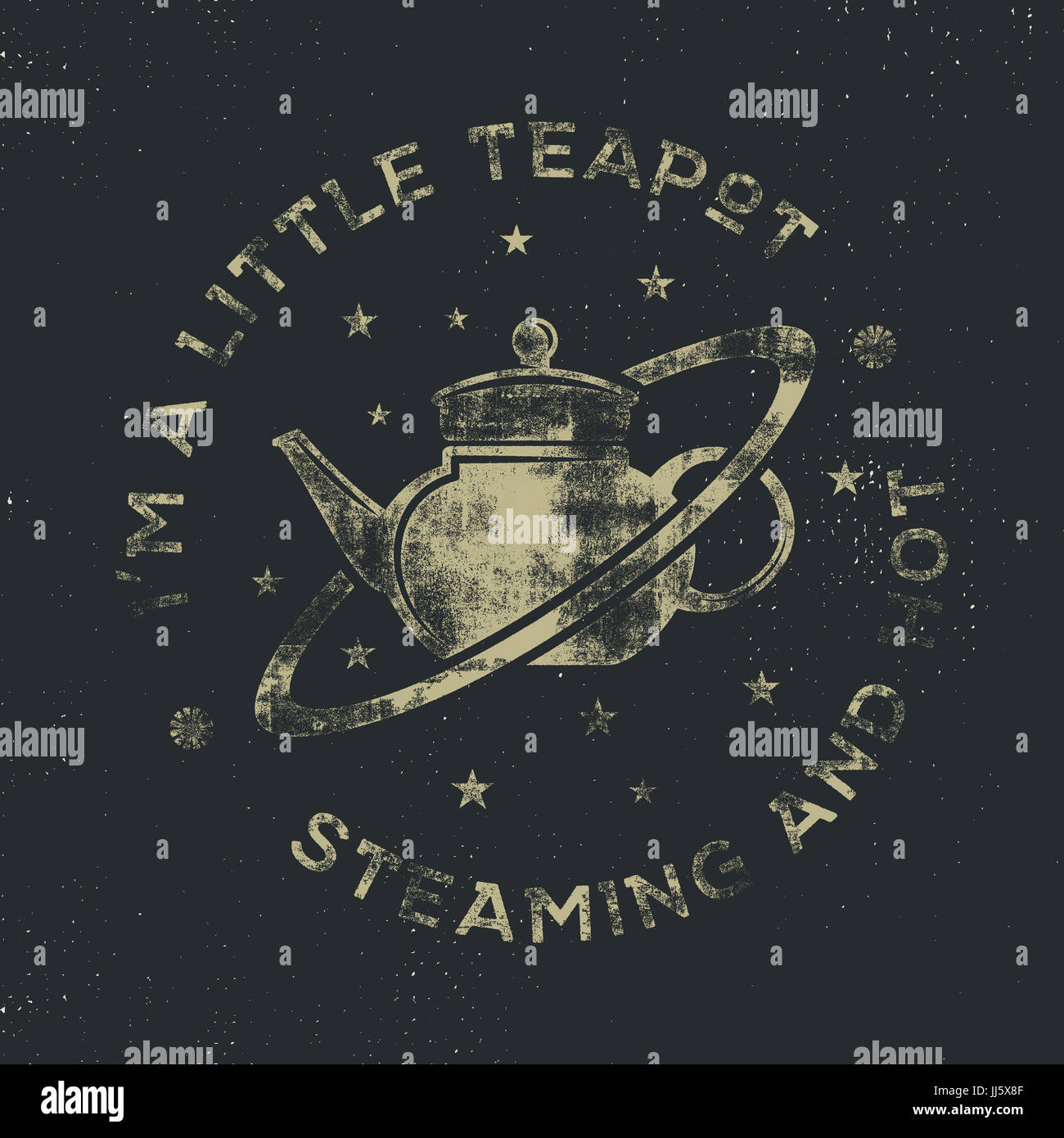 Vintage science poster and background with Russell s teapot and typography elements. Science background theme. Retro - Stock Image