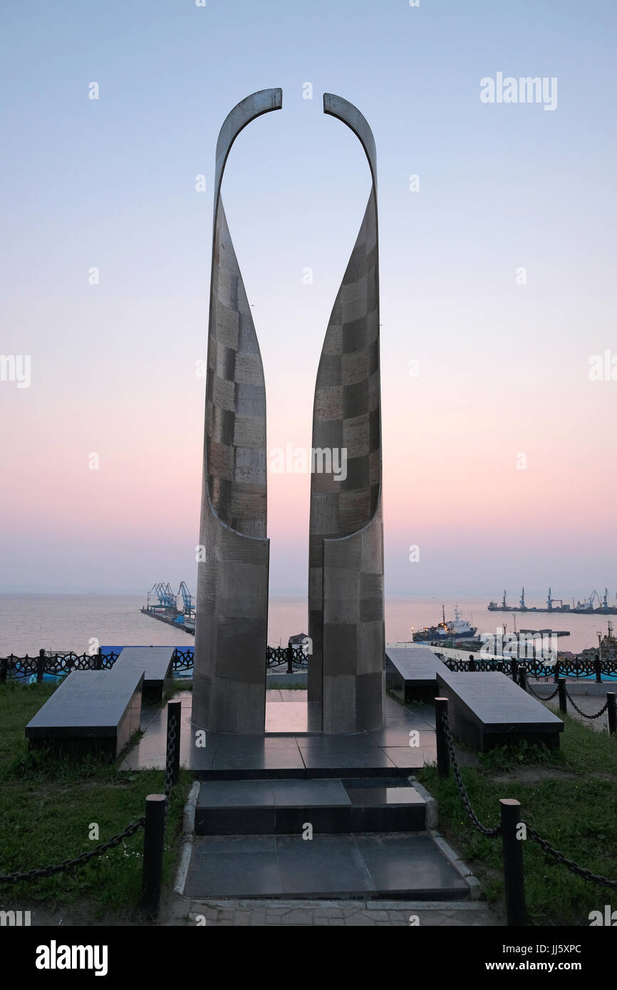 Memorial sculptor for Korean victims of Japanese militarism during second world war by Korean sculptor Choi in Su Stock Photo