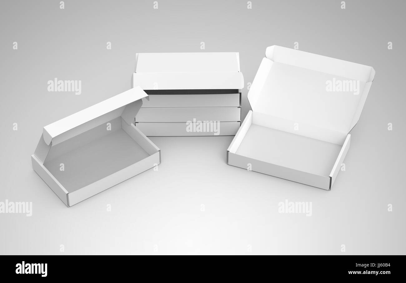 Blank tuck top box template stack of paper boxes mockup isolated on blank tuck top box template stack of paper boxes mockup isolated on light gray background some open and the others closed elevated view maxwellsz