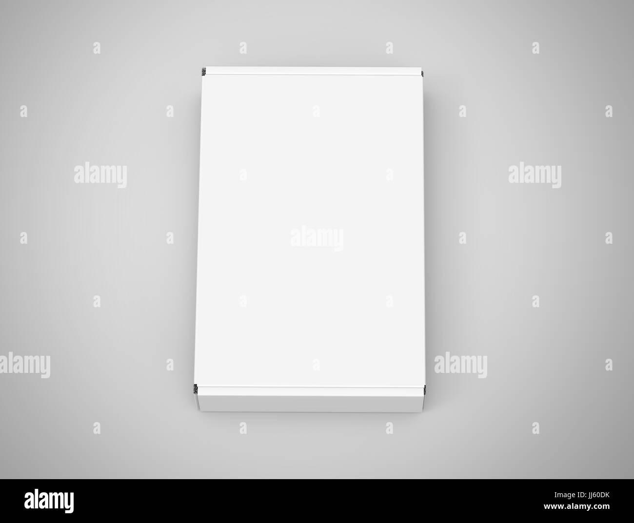 Blank tuck top box template closed paper box mockup isolated on blank tuck top box template closed paper box mockup isolated on light gray background top view maxwellsz