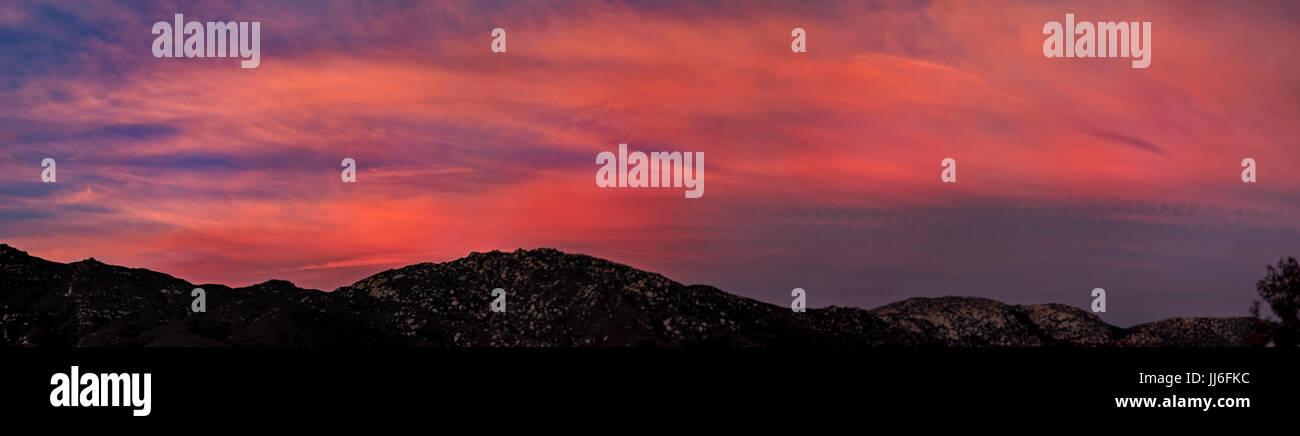 Sunrise in Temecula, California Stock Photo