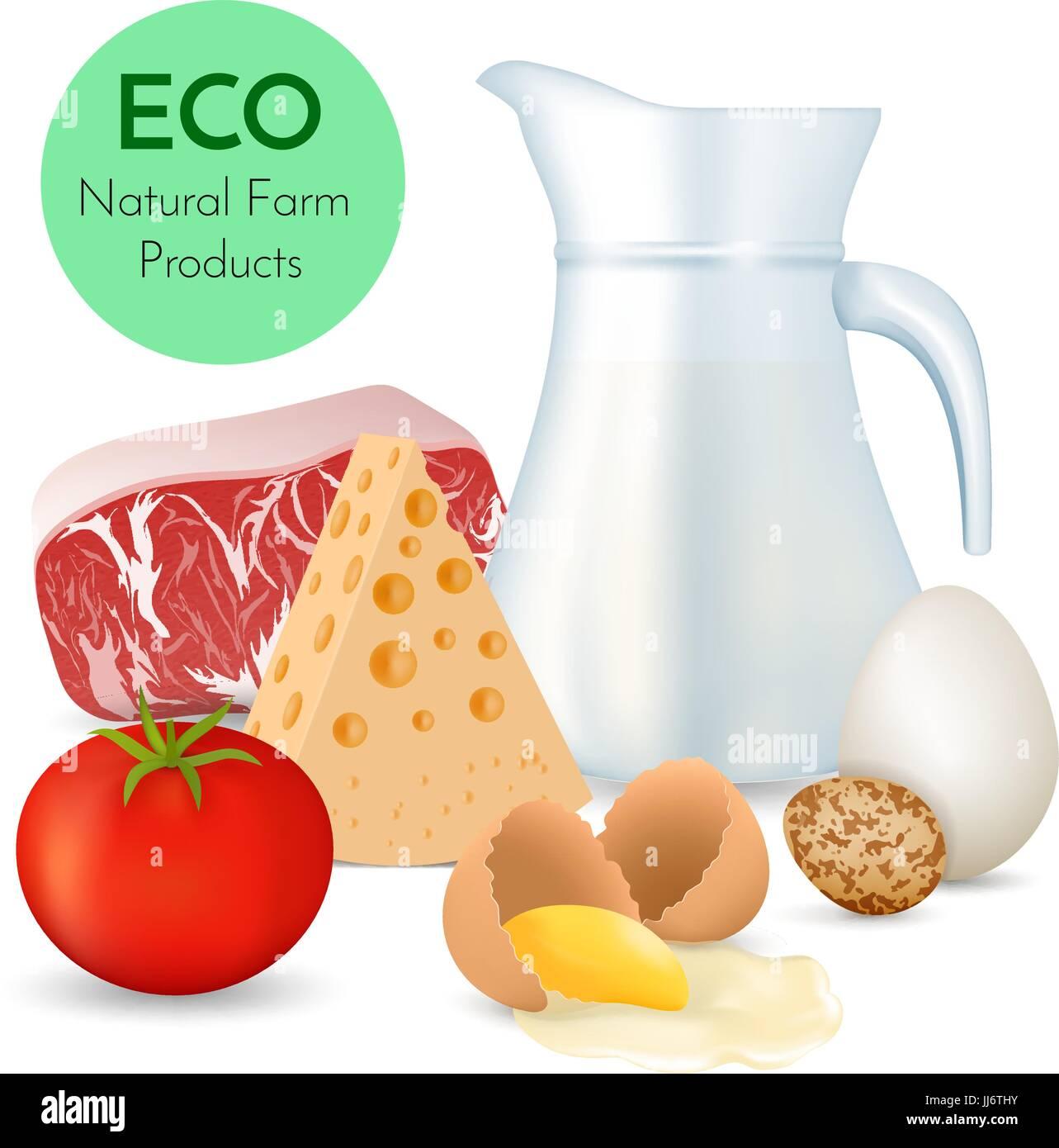 Fresh organic food - Stock Vector