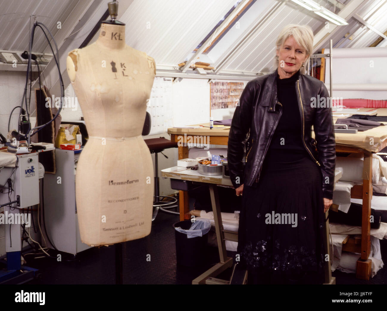 Betty Jackson CBE ,English fashion designer photographed in her London studio on 14th January 2004. - Stock Image