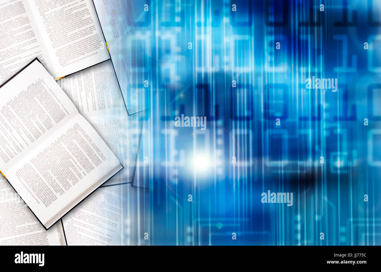 electronic book concept - Stock Image