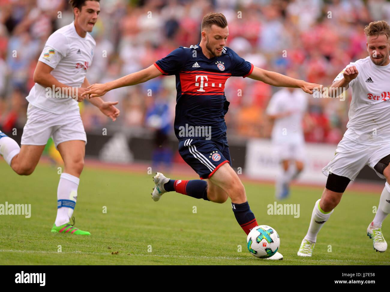 09.07.2017, Fussball 1.Bundesliga 2017/2018, Saisonvorbereitung, FSV Erlangen Bruck - FC Bayern München, im - Stock Image