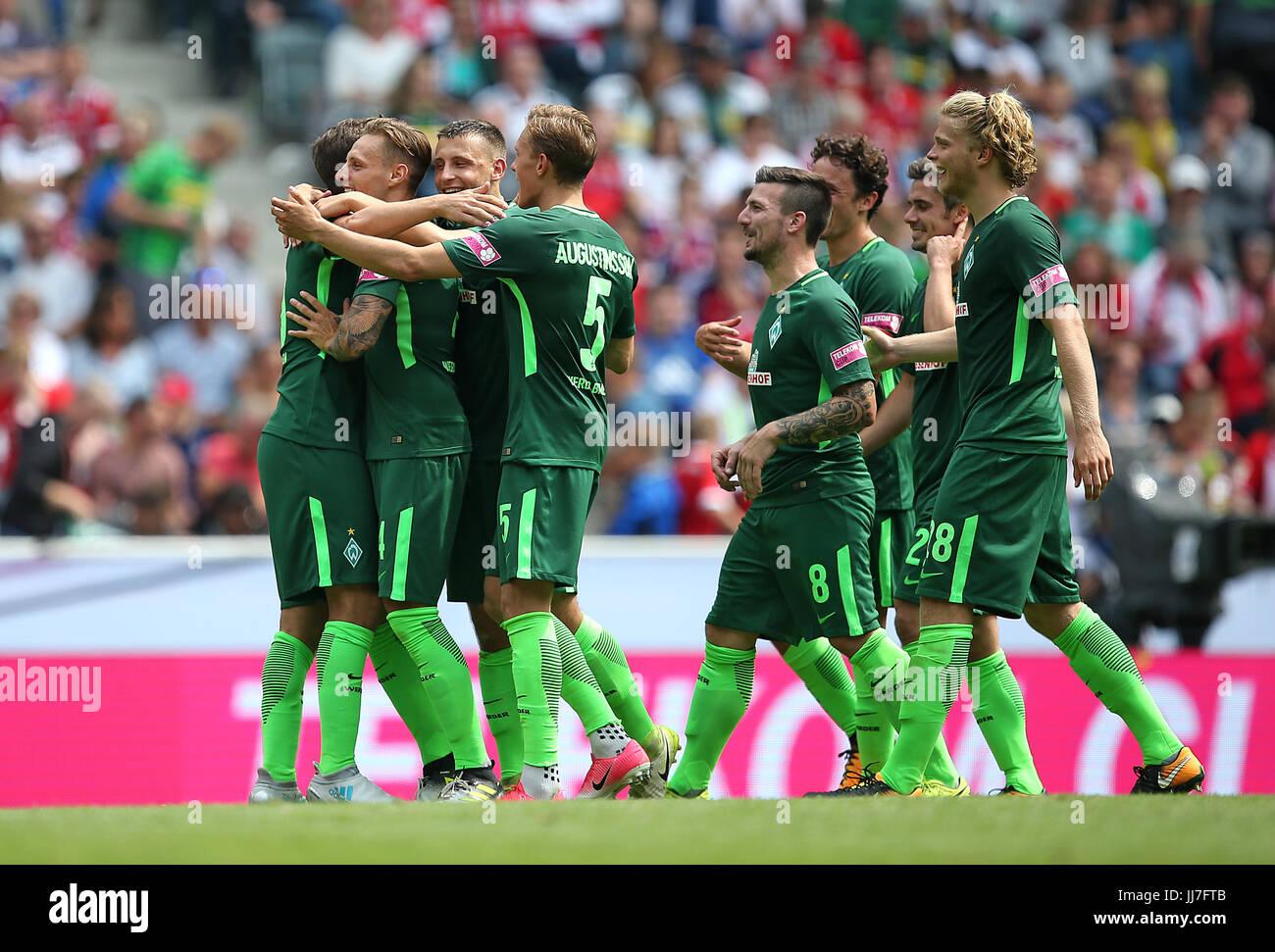 15.07.2017, 1.Fussball Bundesliga 2017/2018 , Telekom-Cup 2017 im Borussiapark Mönchengladbach, Borussia Mönchengladbach - Stock Image