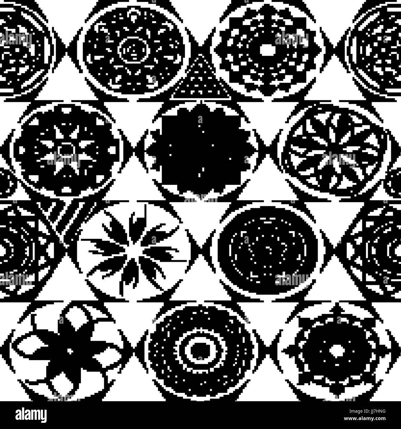 Vector seamless pattern. Modern stylish texture with monochrome trellis. Repeating geometric triangular grid. Simple - Stock Vector